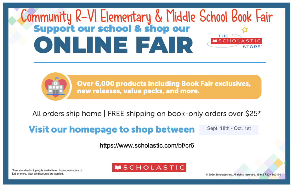 Community R-VI Online Book Fair