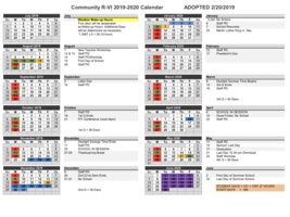 Community R-VI School District Calendar
